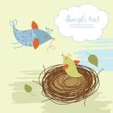 κινούμενα σχέδια πουλιών Απεικόνιση αποθεμάτων
