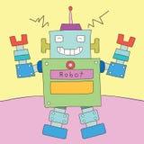 Κινούμενα σχέδια ρομπότ Ελεύθερη απεικόνιση δικαιώματος