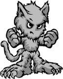 Κινούμενα σχέδια τεράτων αποκριών Werewolf διανυσματική απεικόνιση