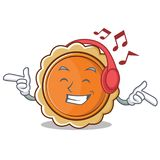 Κινούμενα σχέδια χαρακτήρα πιτών κολοκύθας μουσικής ακούσματος Στοκ Εικόνα