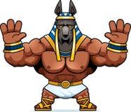 Κινούμενα σχέδια Anubis που φοβάται Ελεύθερη απεικόνιση δικαιώματος