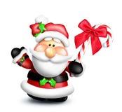 Κινούμενα σχέδια Santa με τον κάλαμο καραμελών Στοκ φωτογραφία με δικαίωμα ελεύθερης χρήσης