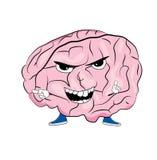 κινούμενα σχέδιαα εγκεφάλου Στοκ Φωτογραφίες