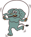 Κινούμενα σχέδια άλματος σχοινιών παιχνιδιού ελεφάντων Στοκ εικόνες με δικαίωμα ελεύθερης χρήσης