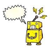 κινούμενα σχέδια λίγο ρομπότ με τη λεκτική φυσαλίδα Στοκ Εικόνα