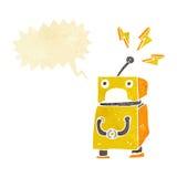 κινούμενα σχέδια λίγο ρομπότ με τη λεκτική φυσαλίδα Στοκ φωτογραφίες με δικαίωμα ελεύθερης χρήσης