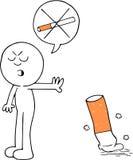 Κινούμενα σχέδια απαγόρευσης του καπνίσματος Στοκ Εικόνες