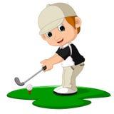 Κινούμενα σχέδια ατόμων παικτών γκολφ Στοκ εικόνα με δικαίωμα ελεύθερης χρήσης