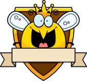 Κινούμενα σχέδια βασίλισσα Bee Badge Στοκ Φωτογραφίες