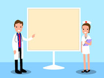 Κινούμενα σχέδια γιατρών παρουσίασης Στοκ Εικόνες