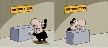 Κινούμενα σχέδια για τις πληροφορίες Στοκ εικόνα με δικαίωμα ελεύθερης χρήσης