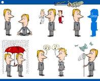 Κινούμενα σχέδια επιχειρησιακής έννοιας καθορισμένα απεικόνιση αποθεμάτων