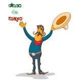 Κινούμενα σχέδια ευτυχής μεξικανός Στοκ εικόνα με δικαίωμα ελεύθερης χρήσης