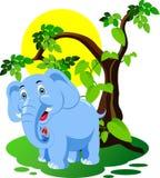 Κινούμενα σχέδια ελεφάντων Στοκ εικόνα με δικαίωμα ελεύθερης χρήσης