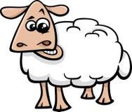 Κινούμενα σχέδια ζώων αγροκτημάτων προβάτων Στοκ εικόνα με δικαίωμα ελεύθερης χρήσης