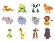 κινούμενα σχέδια ζώων χαρι&t Στοκ εικόνες με δικαίωμα ελεύθερης χρήσης