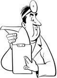 Κινούμενα σχέδια διανυσματικό Clipart γιατρών Στοκ εικόνα με δικαίωμα ελεύθερης χρήσης
