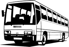 Κινούμενα σχέδια διανυσματικό Clipart λεωφορείων πόλεων Στοκ Φωτογραφία