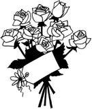Κινούμενα σχέδια διανυσματικό Clipart λουλουδιών τριαντάφυλλων Στοκ εικόνες με δικαίωμα ελεύθερης χρήσης