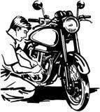 Κινούμενα σχέδια διανυσματικό Clipart ποδηλάτων μοτοσικλετών Στοκ Εικόνες