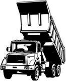 Κινούμενα σχέδια διανυσματικό Clipart φορτηγών απορρίψεων Στοκ φωτογραφία με δικαίωμα ελεύθερης χρήσης