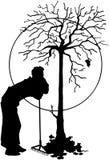 Κινούμενα σχέδια διανυσματικό Clipart φύλλων φύσης δέντρων Στοκ Φωτογραφίες