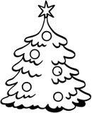 Κινούμενα σχέδια διανυσματικό Clipart χριστουγεννιάτικων δέντρων Στοκ Εικόνες