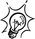 Κινούμενα σχέδια διανυσματικό Clipart Lightbulb Στοκ Φωτογραφίες
