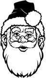 Κινούμενα σχέδια διανυσματικό Clipart Santa Χριστουγέννων Στοκ εικόνες με δικαίωμα ελεύθερης χρήσης
