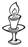 κινούμενα σχέδια κεριών Στοκ Φωτογραφίες