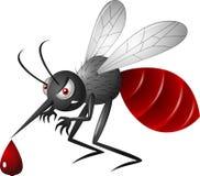 κινούμενα σχέδια κουνουπιών σε ένα άσπρο υπόβαθροα Στοκ Φωτογραφίες