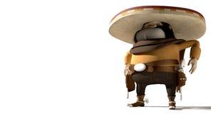 Κινούμενα σχέδια μεξικανός στη μεξικάνικη απόκλιση Στοκ Εικόνες