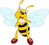 Κινούμενα σχέδια μελισσών Στοκ εικόνες με δικαίωμα ελεύθερης χρήσης