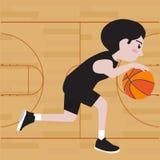 Κινούμενα σχέδια παίχτης μπάσκετ Στοκ εικόνες με δικαίωμα ελεύθερης χρήσης