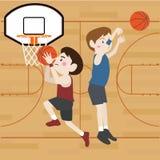 Κινούμενα σχέδια παίχτης μπάσκετ Στοκ Εικόνες