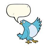 κινούμενα σχέδια που χορεύουν bluebird με τη λεκτική φυσαλίδα Στοκ φωτογραφίες με δικαίωμα ελεύθερης χρήσης
