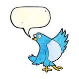 κινούμενα σχέδια που χορεύουν bluebird με τη λεκτική φυσαλίδα Στοκ Φωτογραφίες
