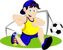 Κινούμενα σχέδια ποδοσφαίρου παιχνιδιού Στοκ εικόνες με δικαίωμα ελεύθερης χρήσης