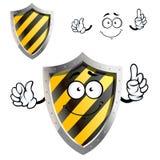 Κινούμενα σχέδια προστατευτικά ή ασπίδα προειδοποιητικών σημαδιών Στοκ Εικόνα