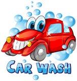 Κινούμενα σχέδια πλυσίματος αυτοκινήτων Στοκ Φωτογραφίες