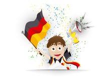 Κινούμενα σχέδια σημαιών ανεμιστήρων ποδοσφαίρου της Γερμανίας Στοκ Εικόνα