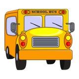 Κινούμενα σχέδια σχολικών λεωφορείων διανυσματική απεικόνιση