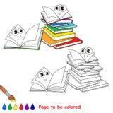Κινούμενα σχέδια σχολικών στοιχείων Σελίδα που χρωματίζεται Στοκ Φωτογραφίες