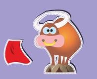 Κινούμενα σχέδια του Bull Ελεύθερη απεικόνιση δικαιώματος