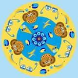 κινούμενα σχέδια, χαρακτήρες, πίθηκος ελεύθερη απεικόνιση δικαιώματος