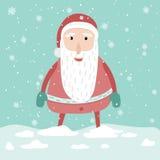 Κινούμενα σχέδια χαριτωμένος Άγιος Βασίλης νέος και χαρακτήρας έτους Χριστουγέννων Ελεύθερη απεικόνιση δικαιώματος