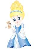 Κινούμενα σχέδια χαριτωμένο Cinderella Στοκ Εικόνες