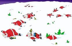 Κινούμενα σχέδια Χριστουγέννων κόμματος, που πηγαίνουν νότια Στοκ Εικόνες