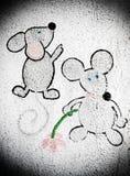 Κινούμενα σχέδια δύο mouses Στοκ Εικόνες