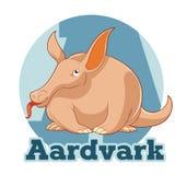 Κινούμενα σχέδια Aardvark ABC Στοκ εικόνες με δικαίωμα ελεύθερης χρήσης